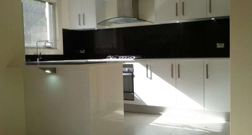 Satin Finish Polyurethane White Kitchen Black