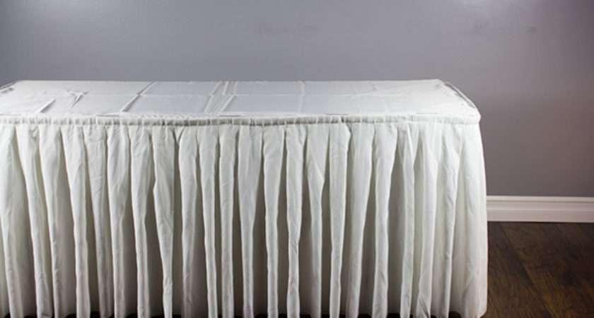 Scalloped Table Skirting Diy Tutorial