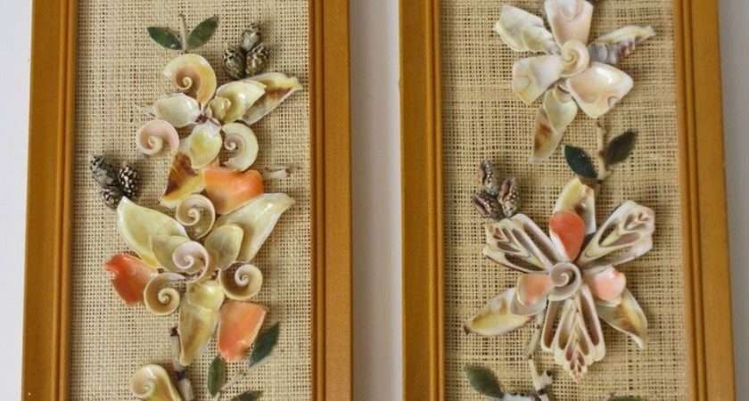 Seashell Craft Wall Hanging Decoration Ideas Art