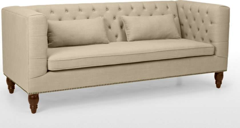 Seater Sofa Biscuit Beige Flynn