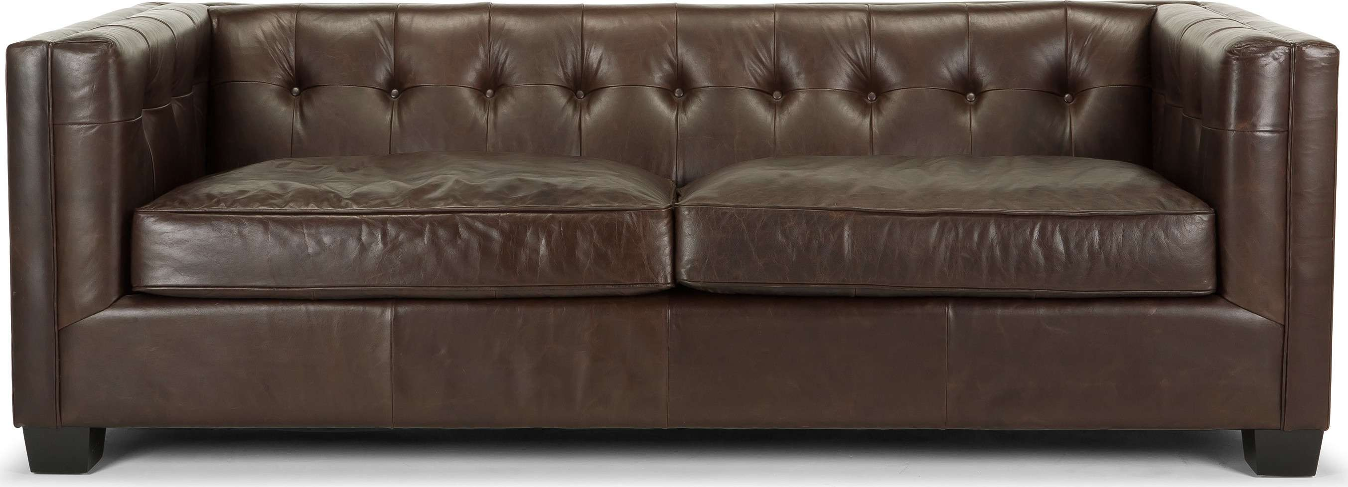 Seater Sofa Vintage Brown Based Classic Chesterfield