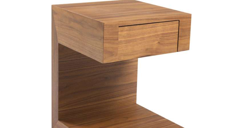 Seattle Bedside Table Drawer Walnut Dwell