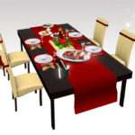 Second Life Marketplace Christmas Dinner Table Set