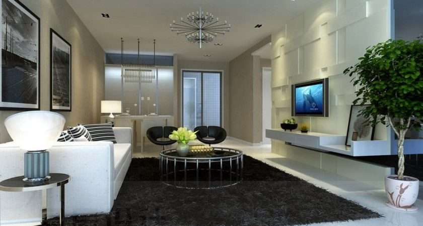 Sensual Modern Rug Minimalistic Contemporary Living Room
