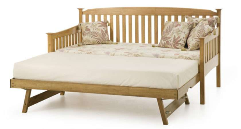 Serene Eleanor Wooden Day Bed Trundle Guest