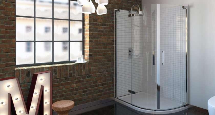 Series Frameless Offset Quadrant Shower Enclosure