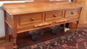 Server Console Hall Table Solid Oregon Pine Kensington