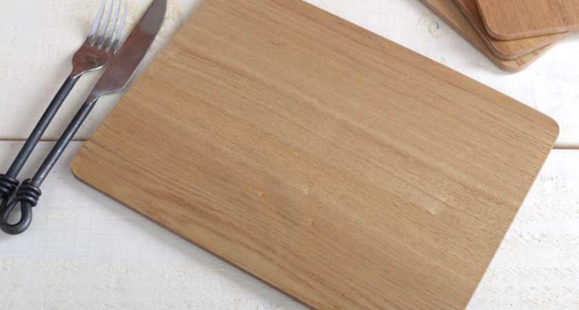 Set Ash Wood Veneer Placemats Table Mats New Tag Ebay