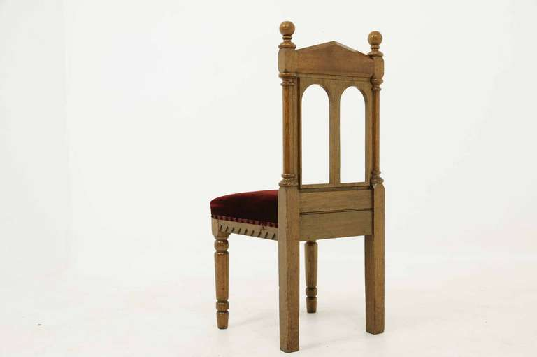 Set Oak Victorian Gothic Style Chairs Stdibs