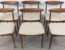 Set Six Teak Retro Dining Chairs Sold