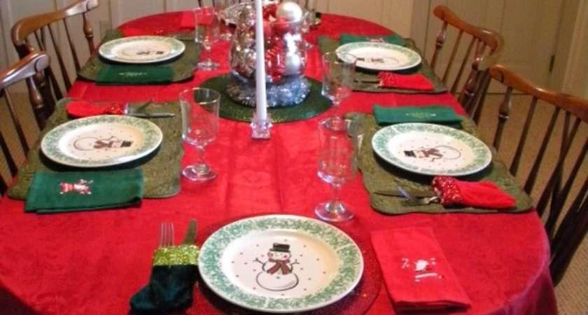 Setting Christmas Table Budget Rhapsody Rooms