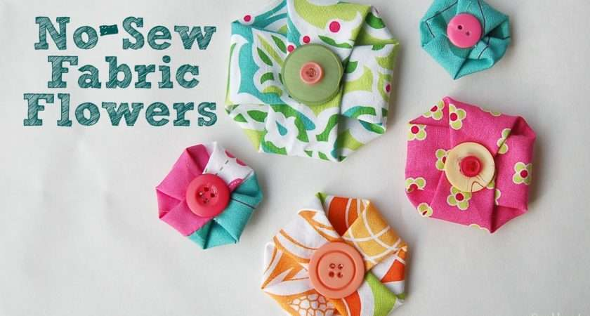 Sew Fabric Flowers Scattered Thoughts Crafty Mom