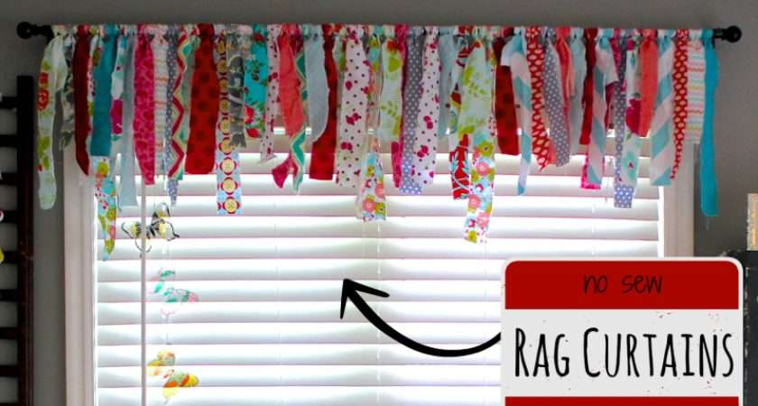 Sew Rag Curtains Made Marzipan