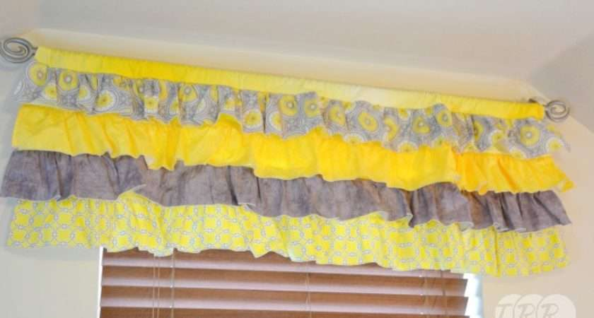 Sew Ruffled Valance Curtain Ribbon Retreat Blog