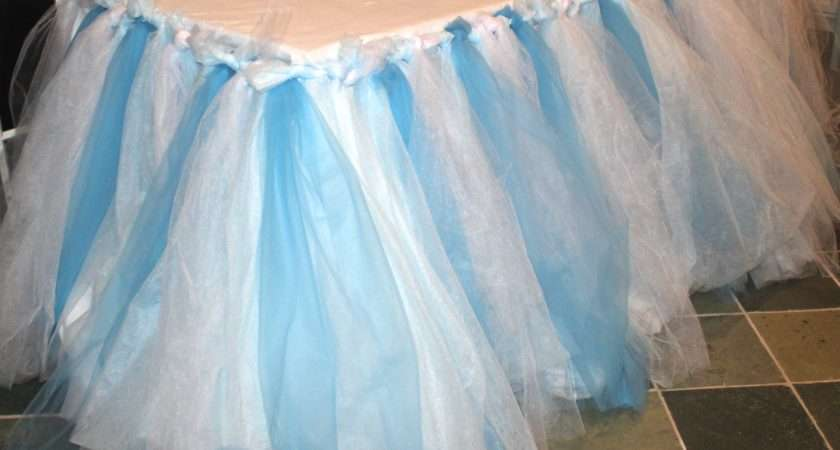 Sew Tulle Table Skirt Mamanista