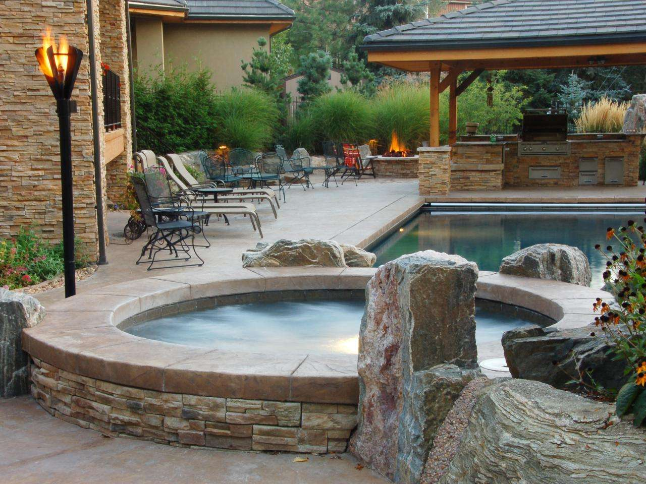 Sexy Hot Tubs Spas Outdoor Spaces Patio Ideas Decks Gardens