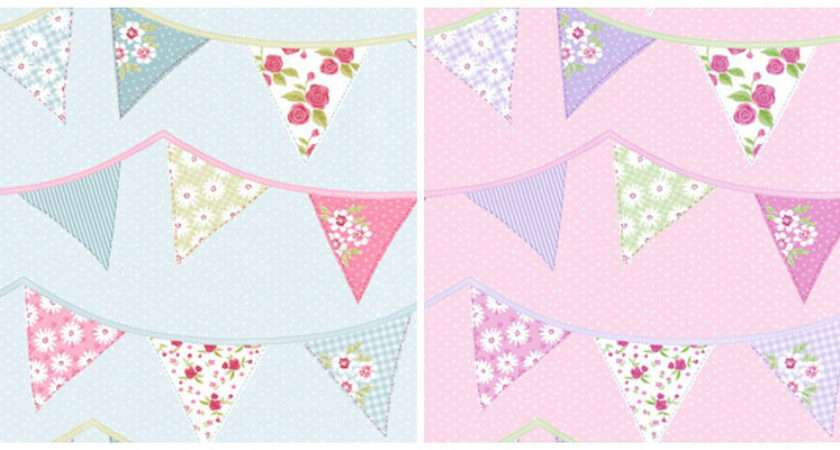 Shabby Chic Bunting Cute Direct