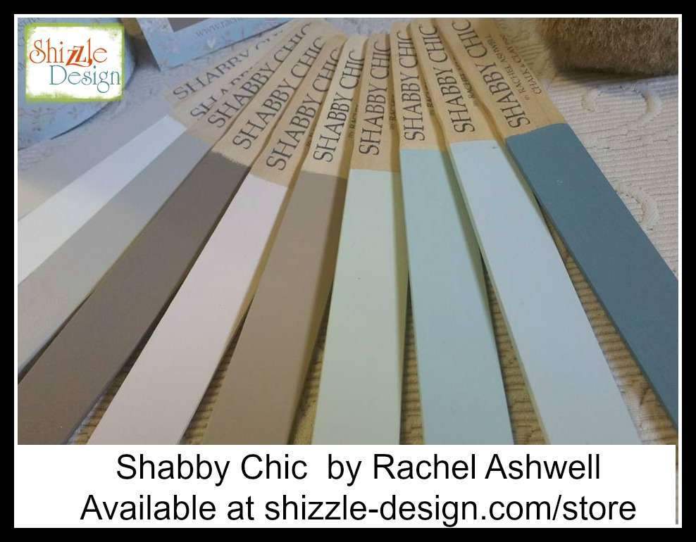 Shabby Chic Chalk Clay Paint Rachel Ashwell Pastel Colors Painted