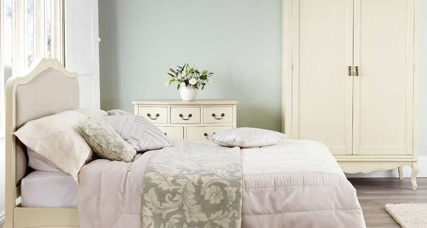 Shabby Chic Champagne Upholstered Double Bed