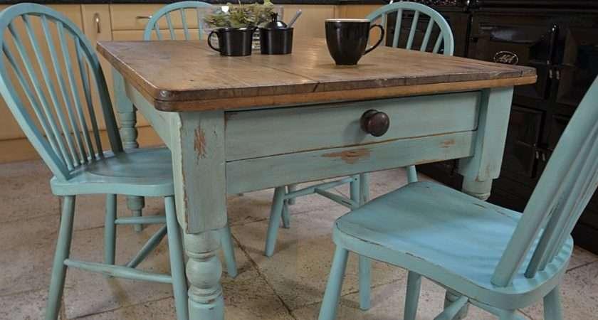 Shabby Chic Farmhouse Rustic Dining Table Stickback