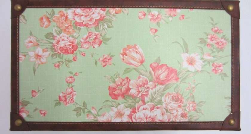 Shabby Chic Green Floral Design Storage Chest Trunk Toy Box Small