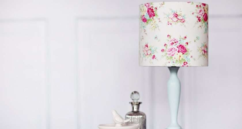 Shabby Chic Lamp Shade Decor Floral Lighting