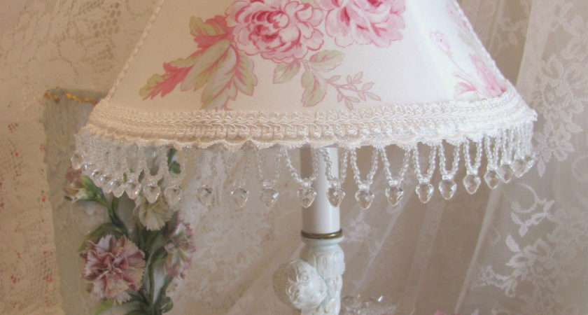 Shabby Chic Rose Lamp Shade Better Lamps Oregonuforeview