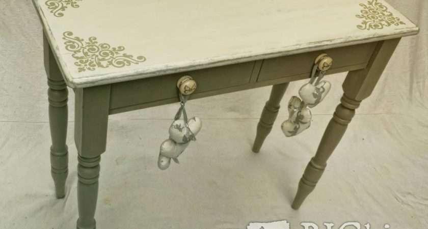Shabby Chic Stencil Vintage Corner Scroll Furniture
