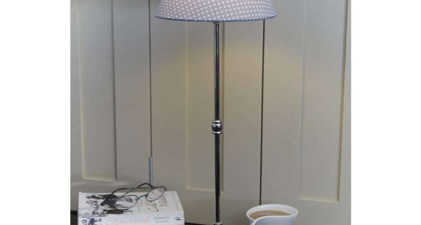 Shabby Chic Table Lamp Dot Shade French Style Lights