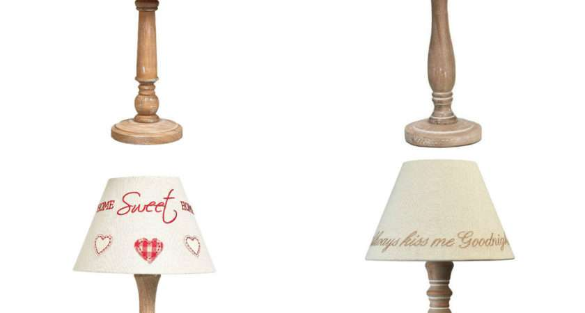 Shabby Chic Vintage Table Lamp New Wooden Base Plus
