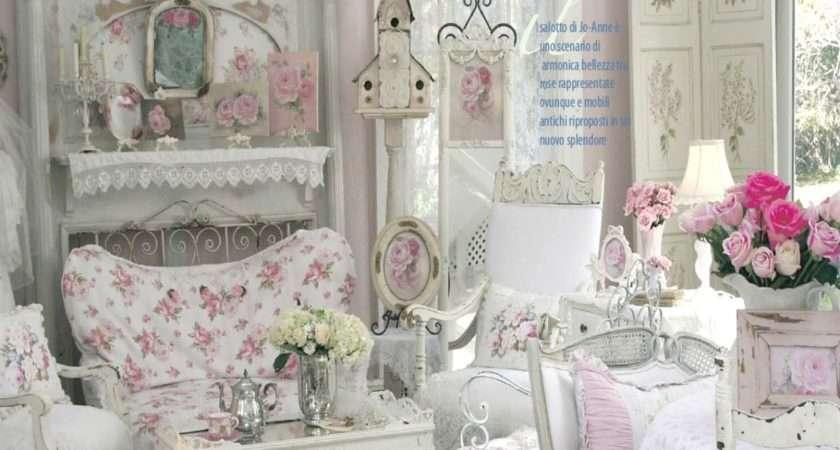 Shabby Chic White Bedroom Living Room Ideas
