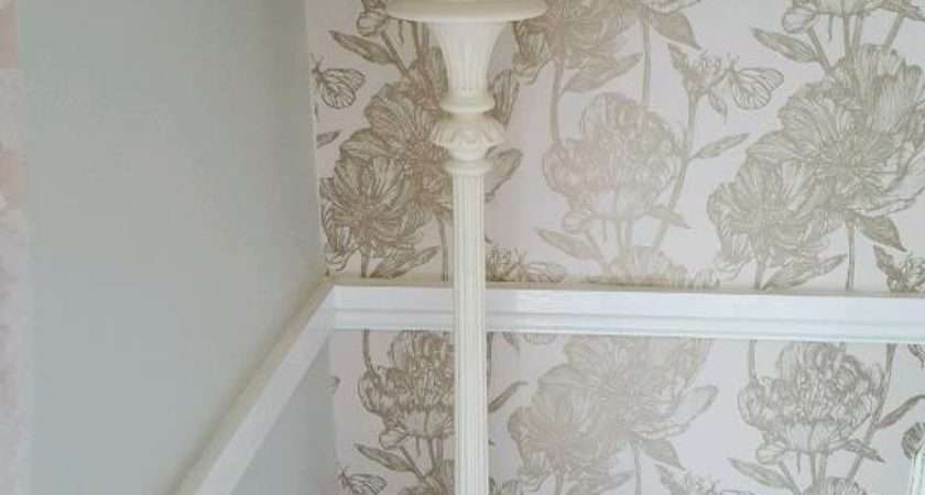 Shabby Chic Wooden Tall Floor Lamp Beaded Shade