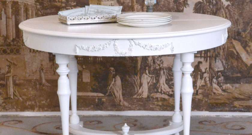Shabby Cottage Chic Round Modern Dining Table French