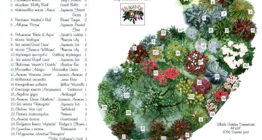 Shade Garden Plans Pinterest