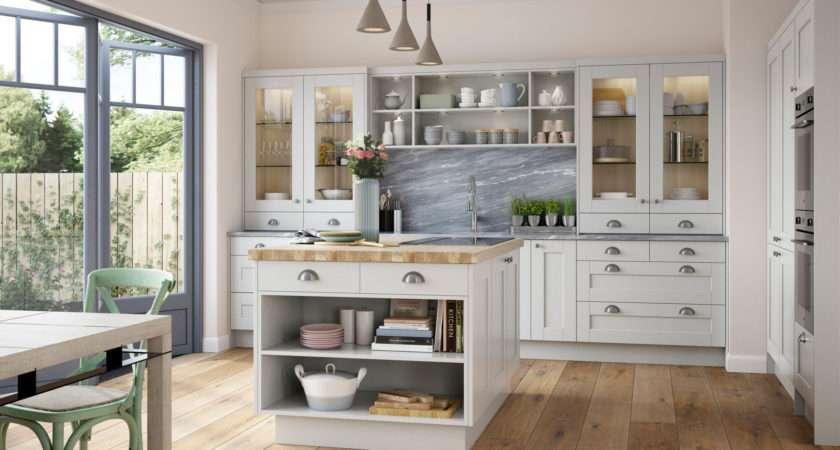 Shaker Kitchen Doors Kensington Light Grey Uform