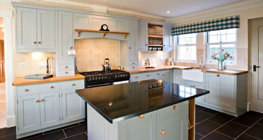 Shaker Kitchen Painted Wood Worktops Home