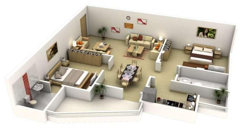 Shaped Bedroom Apartment Interior Design Ideas
