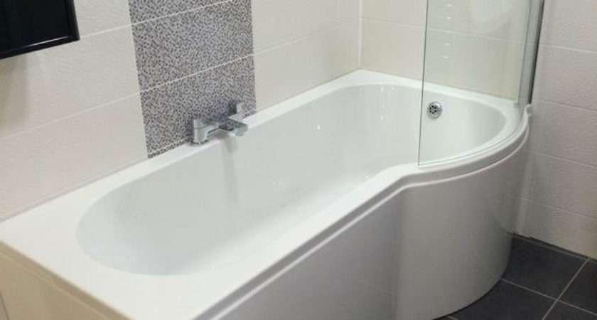 Shaped Right Hand Bath Inc Panel Screen