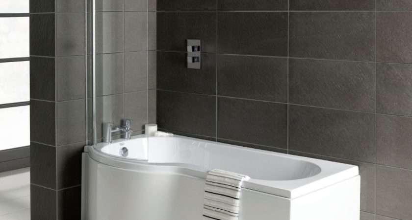 Shaped Shower Bath Screen Panel