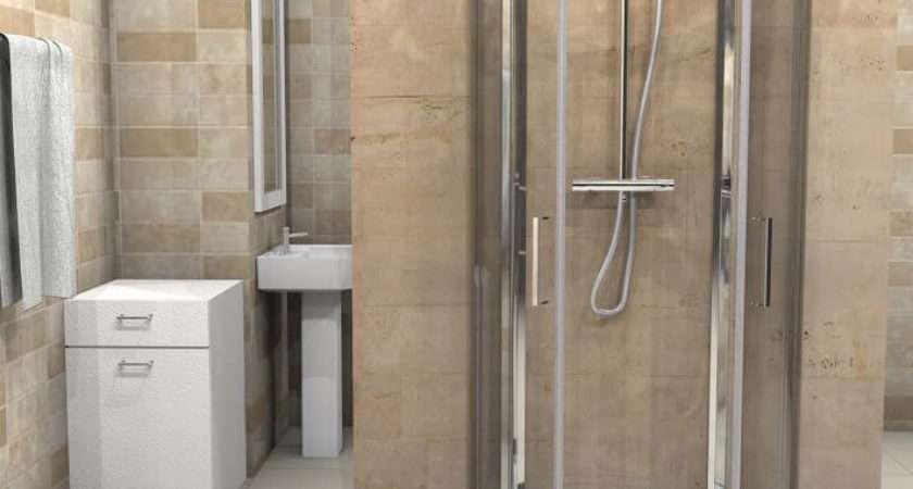 Shaped Shower Enclosure One Wall Quadrant