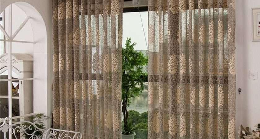 Sheer Cafe Curtains Cortinas Para Sala Decorative Door