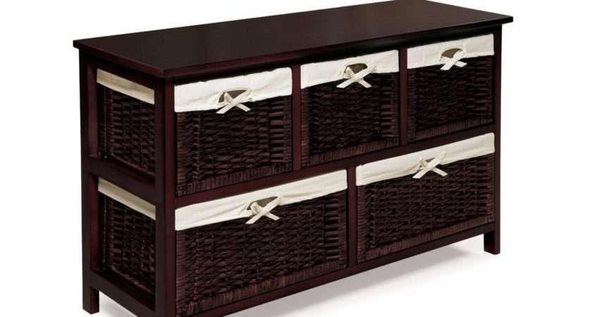 Shelf Wicker Baskets Best Decor Things