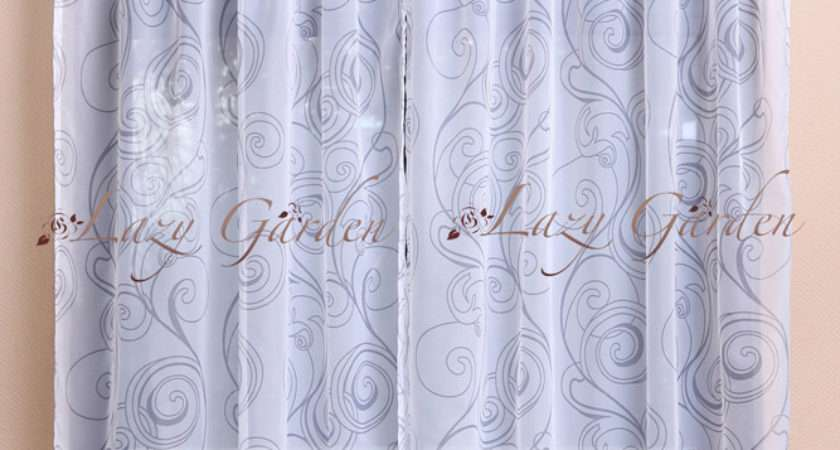 Shipping European Style Printed Voile Window