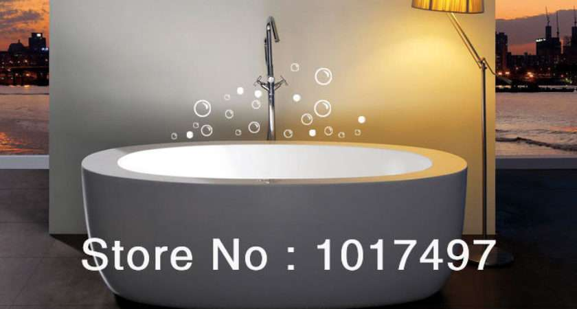 Shipping Soap Bubbles Bathroom Tile Stickers Funny Waterproof