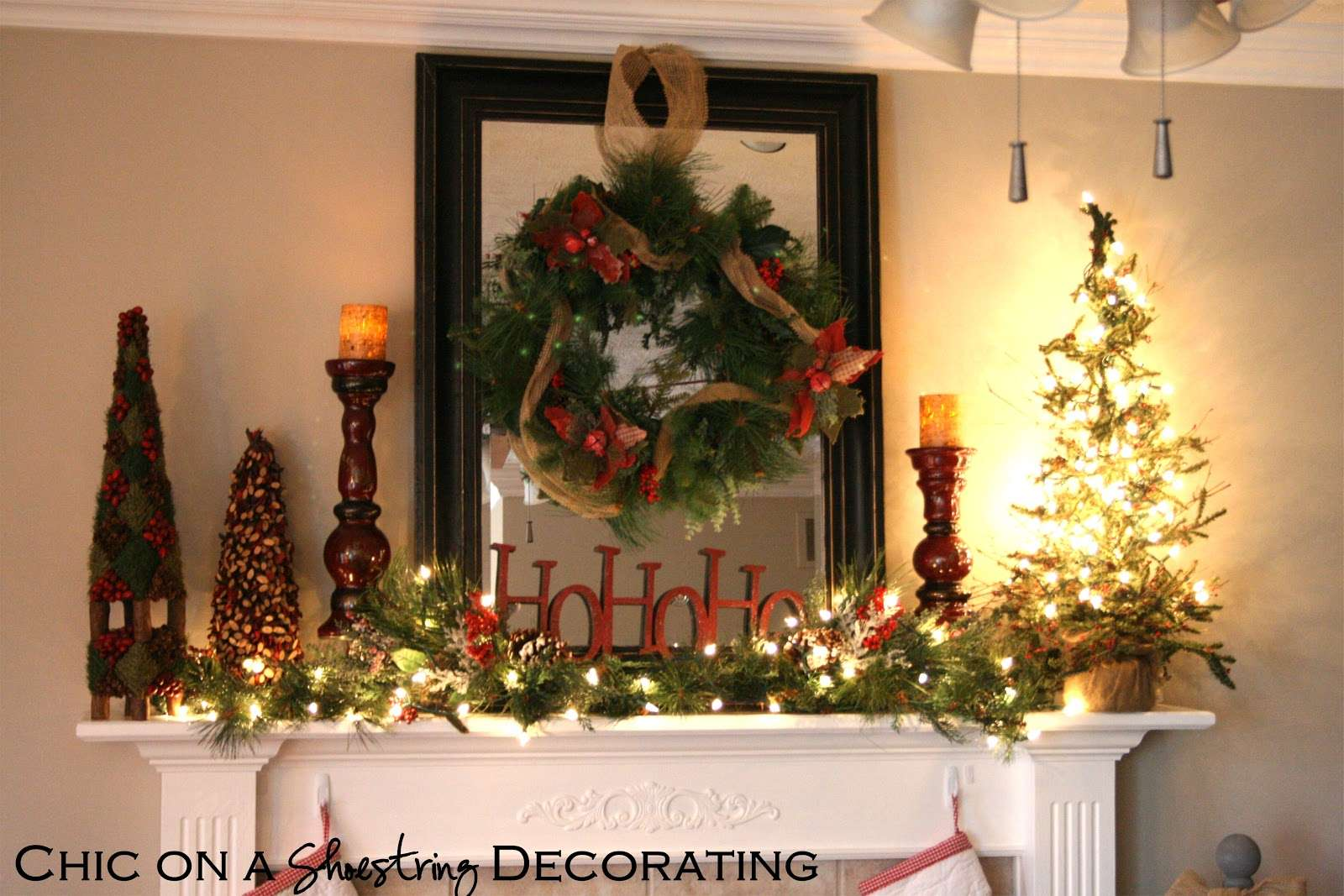 Shoestring Decorating Christmas Home Tour Part Rustic