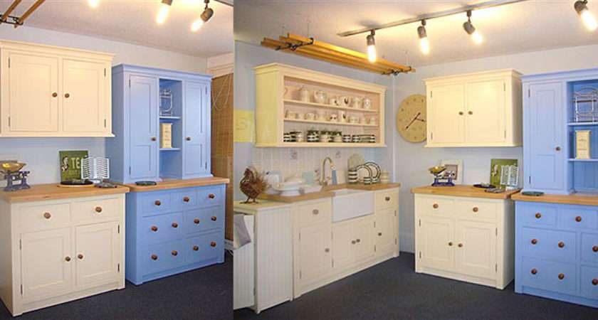 Shop Freestanding Painted Wax Finish Pine Kitchen Units Supplied
