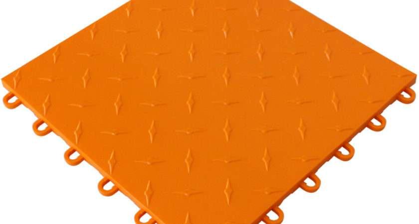 Shop Orange Instant Floor Tile Garage Flooring