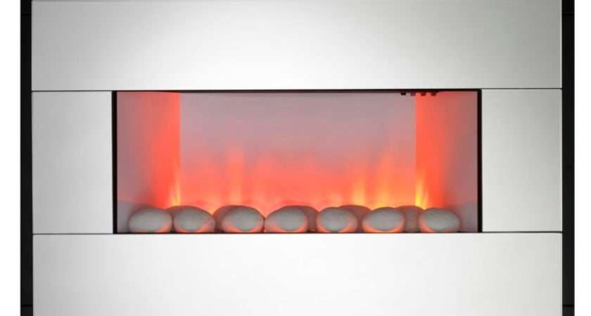 Shopping Kavachi Contemporary Mirror Wall Hung Electric Fire