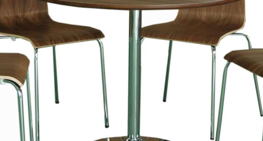 Shoreditch Walnut Round Kitchen Table Chairs