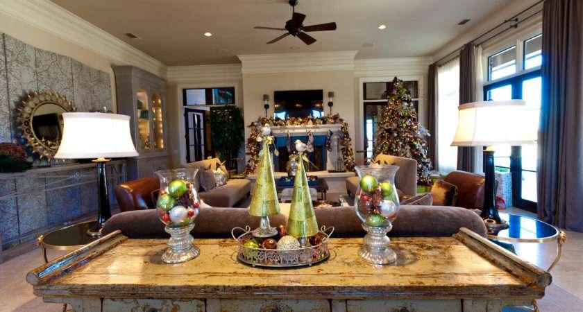 Show Decorating Living Room Christmas Pinterest